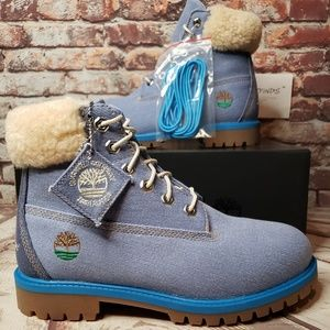 Timberland Just Don 6in Fabric Boot Blue Juniors🆕